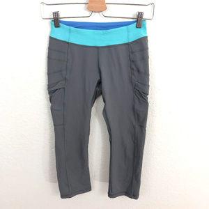 Ivivva Leggings Estimated Sz 8/10 Gray Blue Trim